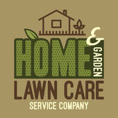 Home and garden lawn care t-shirt — Stock Vector