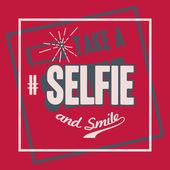 Take a Selfie t-shirt design — Vecteur