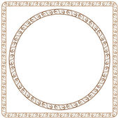 Simple ornamental frames. Element for graphic design — Stock Vector