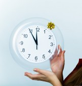 Clock showing midnight — Stock Photo