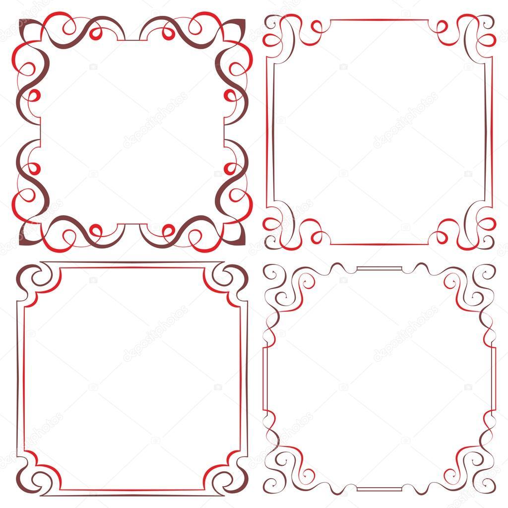 Conjunto de marcos decorativos diferentes vectores - Marcos decorativos ...