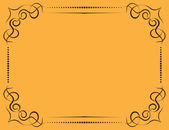Vector ornate frame on a yellow background — Vetorial Stock