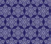 Snowflakes on a dark blue background. seamless pattern — Stock Vector