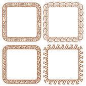Set openwork vector frame for design — Stock Vector