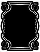 Vector black frame with elegant border — Stock Vector