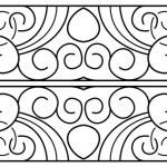Vector border. Black seamless pattern — Stock Vector #70924049