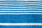 Towel with blue stripes. macro photography — Stock Photo