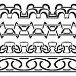 Vector border. Black seamless pattern — Stock Vector #71457521