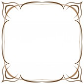 Multilayer vector brown frame on a white background — Stock Vector