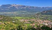 Overview of Adige Valley — Stock Photo