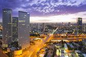 Tel Aviv at sunset — Stock Photo