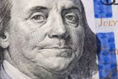 Face of Franklin — Stock Photo