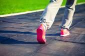 Athletic pair of feet — Stock Photo
