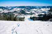 Beautiful winter mountains, skiing resort — Stock Photo