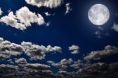 Night sky with stars and moon — Stock Photo