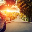 Blurred road and car — Stock Photo #77013695