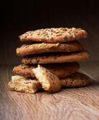 木材チップ クッキー — ストック写真