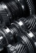 Gear metal wheels — Stock Photo