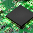 Electronic circuit board with processor — Stock Photo #67426181