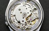 Clock mechanism with gears — Stock Photo