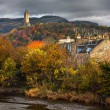 Colorful autumnal a view of William Wallace monument — Stock Photo #65789057