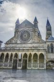 Cathedral of Our Lady of Tournai in Belgium — Stock Photo
