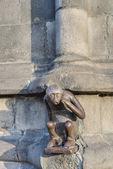 Guardhouse Monkey statue in Mons, Belgium. — Stock Photo