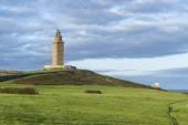 Toren van hercules in een coruna, galicië, spanje. — Stockfoto