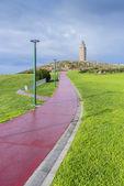 Tower of Hercules in A Coruna, Galicia, Spain. — Stock Photo