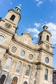 Cathedral of St. James in Innsbruck, Austria. — Foto de Stock