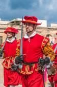 In Guardia Parade at St. Jonh's Cavalier in Birgu, Malta. — Stock Photo