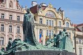 Jan Hus statue — Zdjęcie stockowe