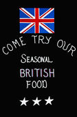Brytyjskie potrawy sezonowe. — Zdjęcie stockowe