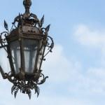 Streetlamp in Tournai, Belgium — Stock Photo #61797741