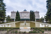 The Sabatini Gardens in Madrid, Spain. — Foto de Stock
