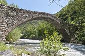 Romanic bridge at la Margineda, Andorra — Stock Photo