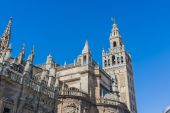 The Giralda in Seville, Andalusia, Spain. — Stock Photo