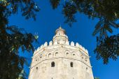 Gold Tower in Seville, southern Spain. — Stock Photo