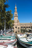Spain Square in Seville, Andalusia, Spain. — Stock Photo