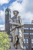 Rembrandt statue in Amsterdam, Netherlands — Stock Photo