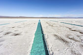 Water pool on Salinas Grandes Jujuy, Argentina. — Stock Photo
