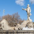 Fountain of Neptune in Madrid, Spain. — Stock Photo #63817695