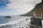 Fishing at San Juan de la Rambla — Stock Photo