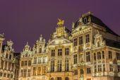 会馆在比利时布鲁塞尔的大广场上. — 图库照片
