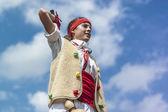 Cercavila prestazioni all'interno di vilafranca del penedes festa principale — Foto Stock