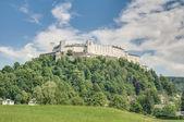 萨尔斯堡城堡 (圣弗朗西斯) 在萨尔茨堡,奥地利经济论坛 — 图库照片