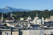 Salzburg general view from Kapuzinerberg viewpoint, Austria — Stock Photo