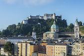 The Salzburg Cathedral (Salzburger Dom) in Salzburg, Austria — Stock Photo