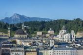 Salzburg general view from Kapuzinerberg viewpoint, Austria — Fotografia Stock