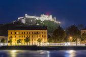 Salzach river on its way through Salzburg, Austria — Stock Photo